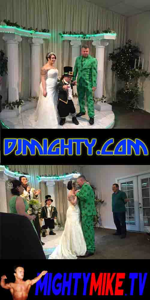 MIGHTY MIKE LEPRECHAUN ALLDAY A LAS VEGAS WEDDING CHAPEL THURSDAY MARCH 17TH 2016 MIDGET MINISTER