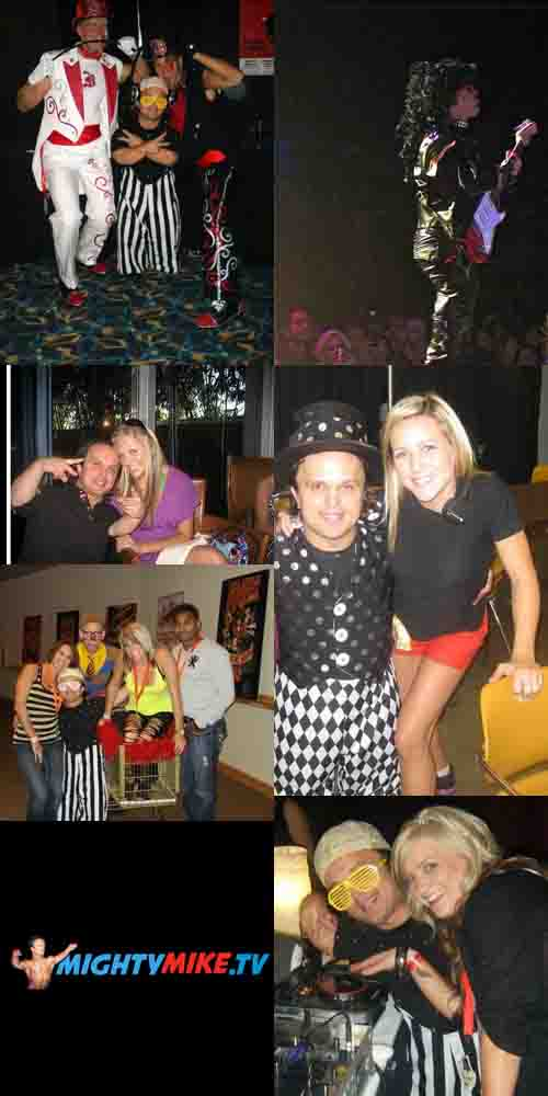 Dj Mighty Spinning, girls Dance, Mc Midget. 2009 Britney Spears World tour. Little people host.